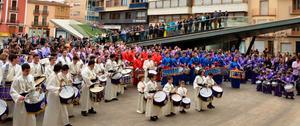 La Tamborada local obri la Setmana Santa de Vila-real amb m�s de 200 participants