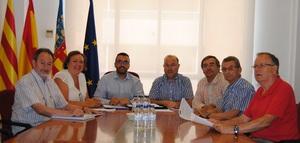 Benlloch fixa amb la nova Associaci� de Transportistes de Vila-real el desbloqueig del p�rquing de camions l'any que ve