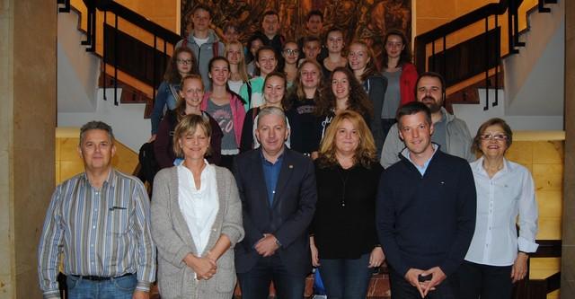 Recepció a alumnes d'Alemanya d'intercanvi