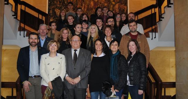 Recepció a alumnes italians d'intercanvi