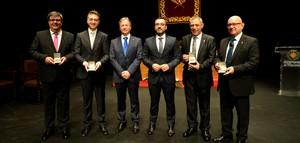 Els Premis 20 de Febrer reconeixen les aportacions a Vila-real de Sergio Caballero, Josep Chiva, Vicent Colonques i Teve4