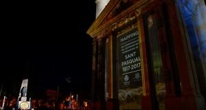 El 'mapping' sobre la bas�lica tanca amb un espectacle �nic la commemoraci� del patronatge en el dia gran de sant Pasqual