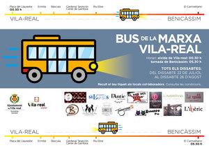 El Bus de la Marxa escalfa motors amb 14 locals adherits i arranca el 22 de juliol per a unir Vila-real amb Benic�ssim