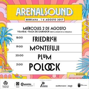 El cartell de la segona edici� de l'Arenal Sound a Vila-real confirma a Friedrich, Montefuji, Plum i Polock