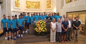 G�mez acompanya el Villarreal CF en la tradicional ofrena als patrons de la ciutat