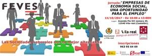 La jornada Empreses d'economia social promou divendres a Vila-real les societats laborals com a f�rmula d'emprenedoria