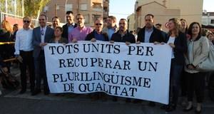 Benlloch d�na suport a les reivindicacions de l'AMPA del col�legi Jos� Soriano pel pla pluriling�e