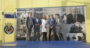 Vila-real ret homenatge a Pascual Font de Mora amb una nova pla�a, constru�da pel Villarreal
