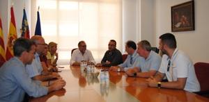 Benlloch rep el president de Diputaci�, Josep Mart�, en la seua primera visita a les festes de Vila-real