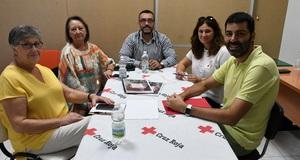 L'alcalde i la presidenta de Creu Roja reforcen la col�laboraci� i aborden el trasllat de l'entitat a la nova seu de la Panderola