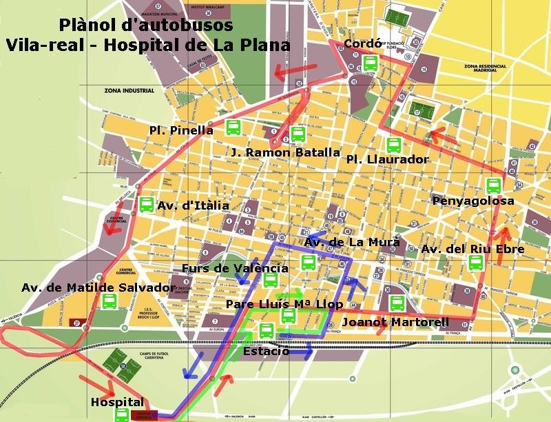 Movilidad ayuntamiento de vila real for Horario piscina vila real